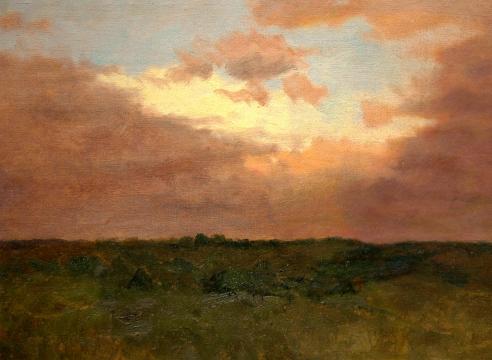 LOCKWOOD DE FOREST (1850-1932), Moon Set - Purple Sky, 1904