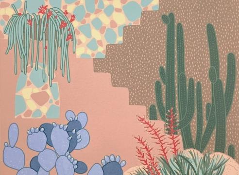 CLAUDIA  BORFIGA, Cactus Terrazo