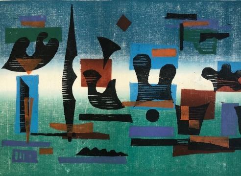 WERNER DREWES (1899-1985), Aquatic Ballet, 1979
