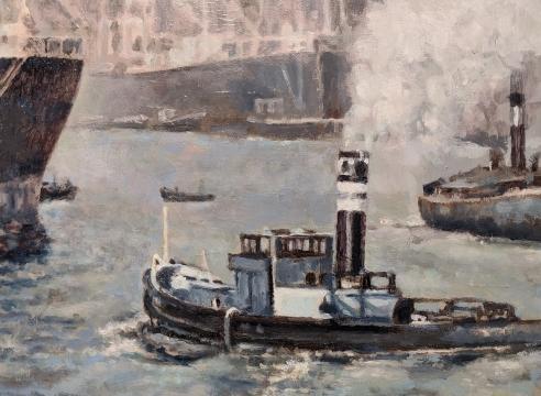 LAWRENCE GIPE, Study for Hamburghafen, 1940, 2018