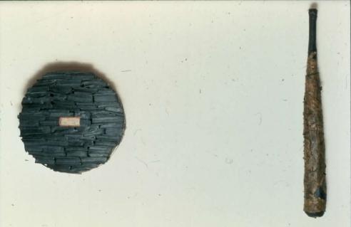 Exhibition announcement picturing Mel Chil, 'Yaqin Saza (Belief/Punishment) for Jam Saqi,' 1986