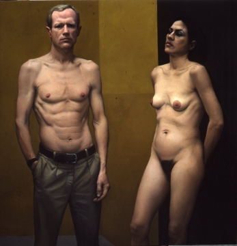Exhibition Announcement picturing William Beckman, 'Man and Woman' 1985-87