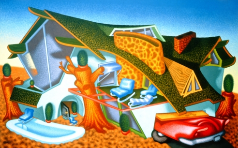 Peter Saul, 'Modern Home' 1989.