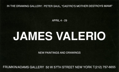 James Valerio April 1995 Exhibition Announcement