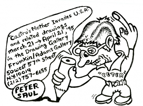 Peter Saul, Drawing Gallery 1995 Exhibition Announcement