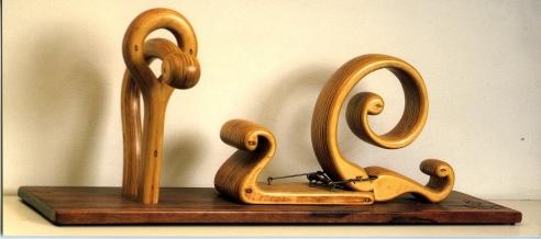 Exhibition annoucement picturing H.C. Westermann, Nouveau Rat Trap 1965