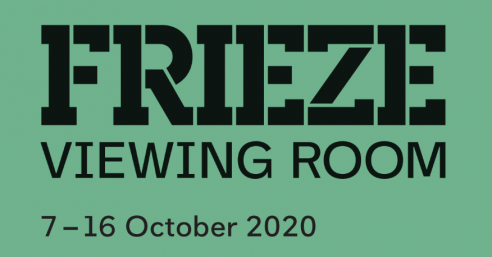 "a logo that says"" frieze viewing room October 7-16, 2020"