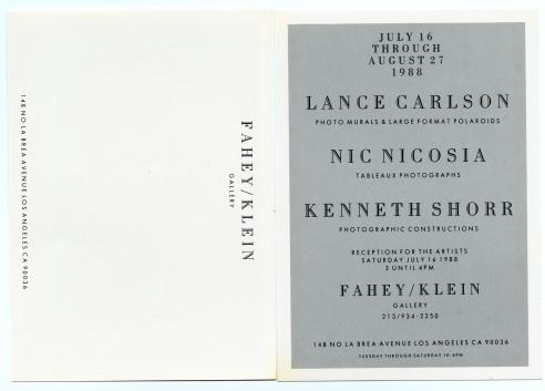 Lance Carlson / Nic Nicosia / Kenneth Shorr