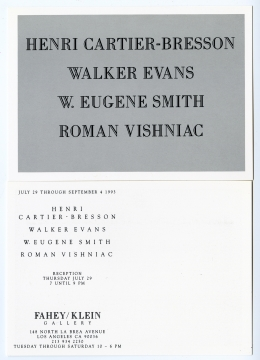 Henri Cartier-Bresson / Walker Evans / W.Eugene Smith / Roman Vishniac