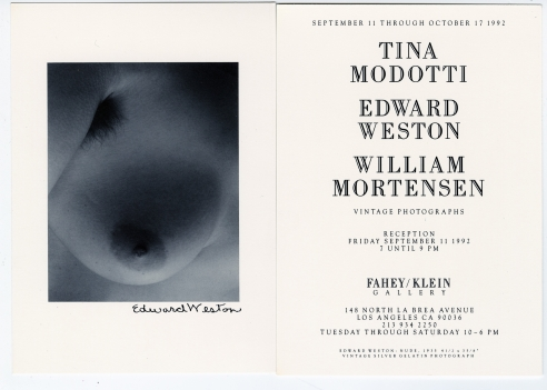 Tina Modotti / Edward Weston / William Mortensen