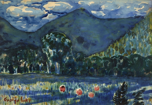 Watercolors by George Luks and other American Paintings