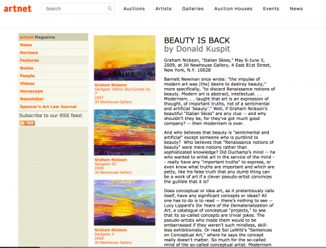 Review in Artnet Magazine: Beauty Is Back, June 2009