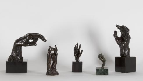 Auguste Rodin: 5 Sculptures of Hands