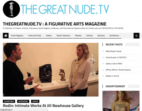 Review on thegreatnude.tv: Rodin: Intimage Works at Jill Newhouse Gallery, October 2012
