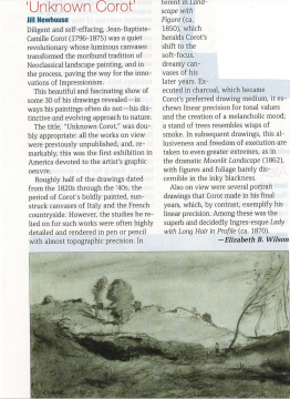 ArtNews Review: Unknown Corot at Jill Newhouse, September 2012