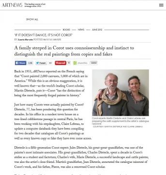 Review on Artnews: If It Doesn't Dance, It's Not Corot, June 2012