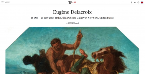 Review on Wall Street International Magazine: Eugène Delacroix at Jill Newhouse Gallery, October 2018