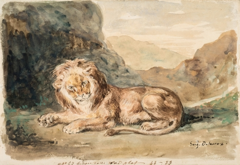 Eugène Delacroix Drawings, Watercolors, Pastels, and Small Oils