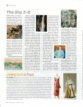 Review of The Big 3-0 in Art & Antiques, February 2018