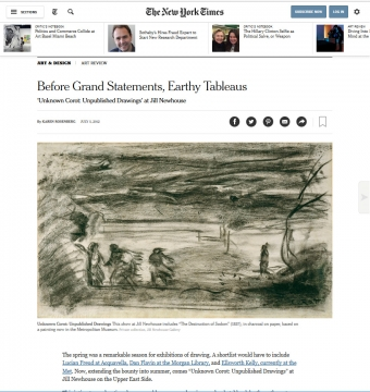 NYT Review: Before Grand Statements, Earthy Tableaus: 'Unknown Corot: Unpublished Drawings' at Jill Newhouse, July 2012