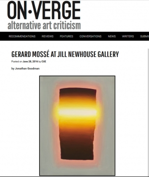 Review in On-Verge: Gerard Mossé at Jill Newhouse Gallery, June 2016