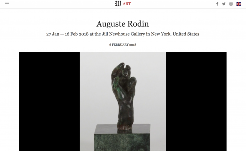 Feature on Wall Street International: Auguste Rodin, February 2018