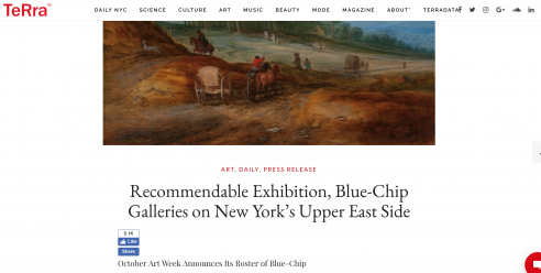 Terra: Recommendable Exhibition, Blue-Chip Galleries on New York's Upper East Side