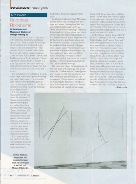 ArtNews Review: Dorothea Rockburne / Jill Newhouse Gallery and Museum of Modern Art, December 2013