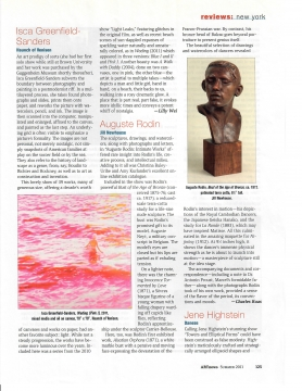 Review in ArtNews: Auguste Rodin at Jill Newhouse, July 2011