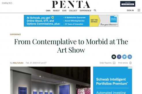 Barron's:  From Contemplative to Morbid at The Art Show