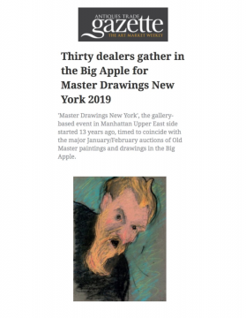Review in Antiques Trade Gazette: Thirty dealers gather in the Big Apple for Master Drawings New York, January 2019