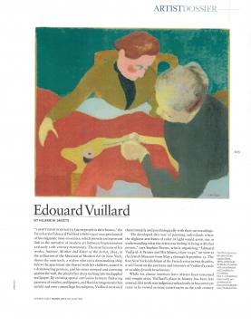 Review in Art + Auction: Edouard Vuillard, May 2012