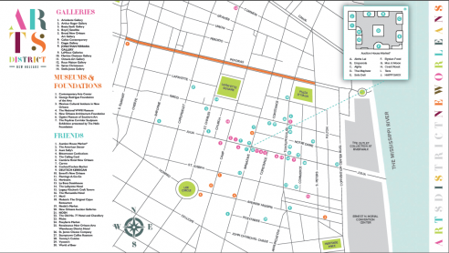 picture regarding Printable Maps of New Orleans titled Map - Arts District Clean Orleans