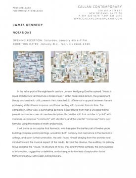 Press Release: James Kennedy - Notations