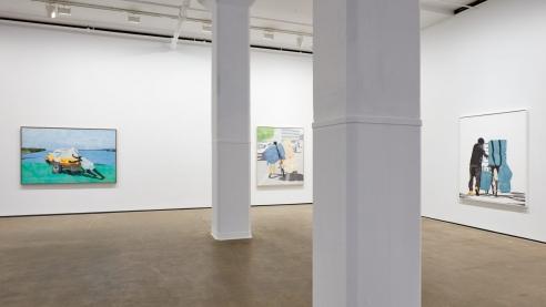 Hugo McCloud's artworks use plastic bags instead of paint