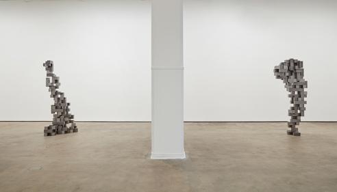 Antony Gormley constructs human body grids at Sean Kelly Gallery, New York