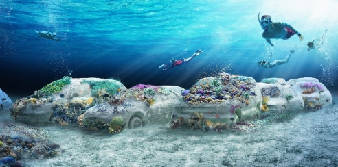 A seven-mile underwater sculpture park is slated to open in Miami Beach next December