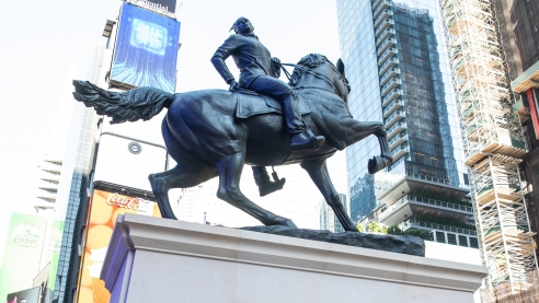 Kehinde Wiley Makes a Statement With New Sculpture in  Times Square
