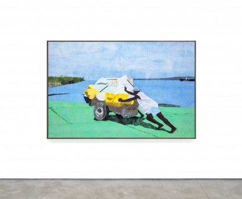 """Hugo McCloud Paints with Single-Use Plastic in """"Burdened"""""""