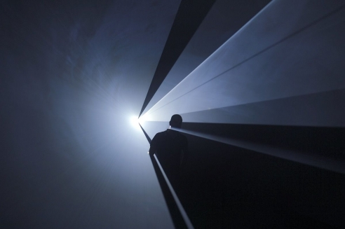 Anthony McCall Creates Transcendent Sculptures with Light and Mist