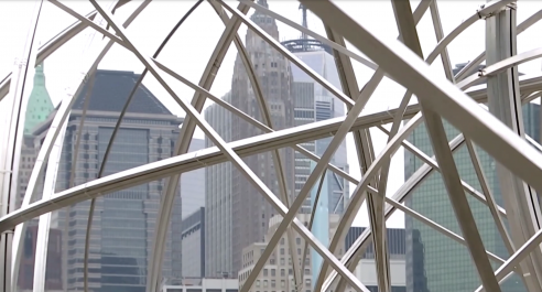 'A nest and a trap': sculptor Gormley unveils Brooklyn installation, funded by K-pop band