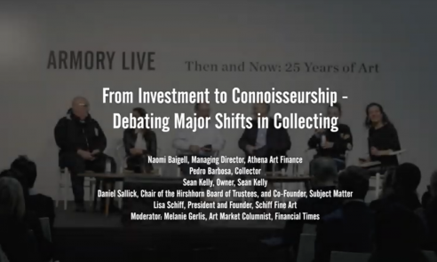 From Investment to Connoisseurship — Debating Major Shifts in Collecting