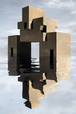 james casebere constructs and photographs a speculative future 'on the water's edge'