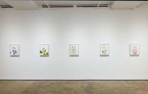 Hugo McCloud Paintings, Created From Plastic Bags, on View at Sean Kelly Gallery
