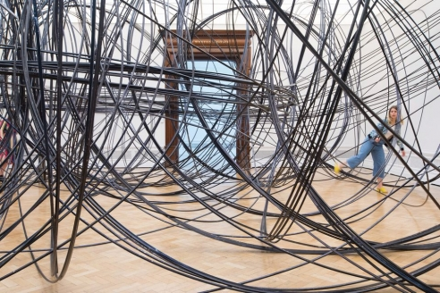 High tension: metal guru Antony Gormley pushes the limits for Royal Academy show