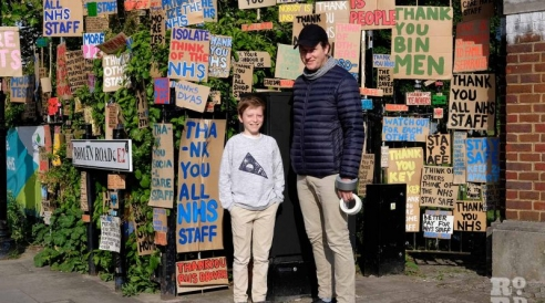"""""""Thank you NHS"""": the local artist whose sign paintings on  Roman Road went viral"""