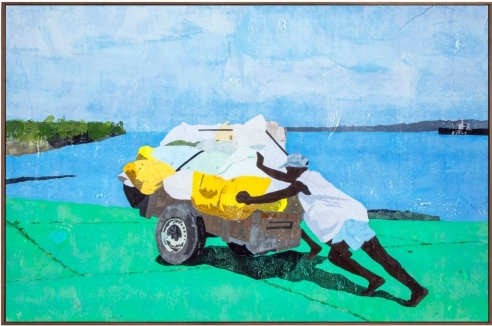 Hugo McCloud's New Paintings are Made with Single-Use Plastic Bags: 'This Material Could Be Used as Art, But Also as a Tool to Open Up Conversation