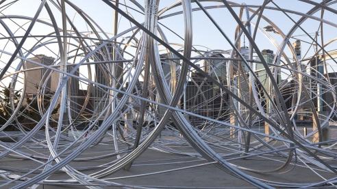 In Collaboration With K-pop Sensation BTS, Artist Antony Gormley Installs Gigantic Sculpture in New York