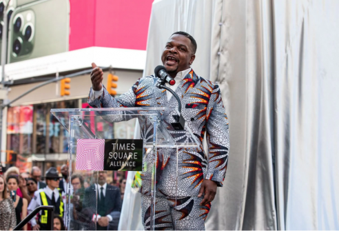 With a brass band blaring, artist Kehinde Wiley goes off to war with Confederate statues