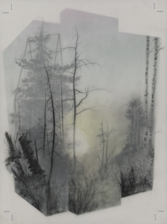 "Brooks Salzwedel ""Green House Sunset"""